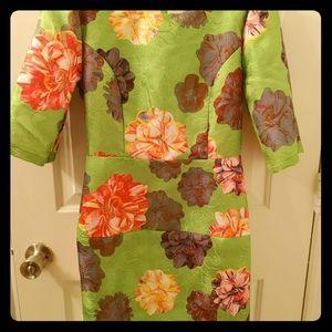 Queen Mulock Spring Green Floral Dress